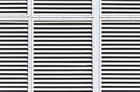 pic of louvers  - Metallic gray slanted louvers as abstract industrial background - JPG