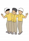 foto of humble  - Group of Indonesian muslim boys hanging out together - JPG