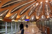 Big Modern Hall Of New Terminal Of Airport Sheremetyevo In Moscow