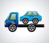 picture of boom-truck  - crane graphic design  - JPG