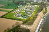 image of sewage  - Aerial view of the sewage treatment plant - JPG
