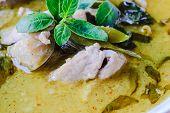 foto of thai cuisine  - green curry with pork thai cuisine delicious food - JPG