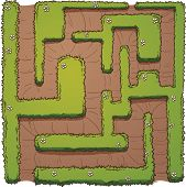 picture of maze  - Cartoon hedge maze - JPG