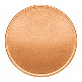 picture of copper coins  - Blank template for copper coin or medal with metal texture - JPG