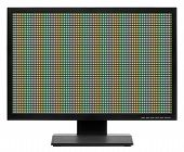 stock photo of televisor  - Computer display or lcd tv on white background - JPG