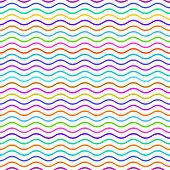 pic of wavy  - Colorful seamless wavy line pattern vector illustration - JPG