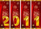 Año nuevo sobre rojo