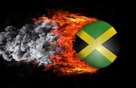 pic of jamaican flag  - Concept of speed  - JPG