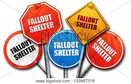 fallout shelter 3D rendering street
