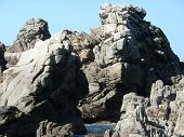 Formação rochosa de oceano