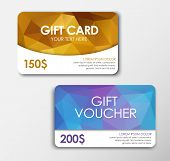 Постер, плакат: Polygonal Gift Card And Voucher