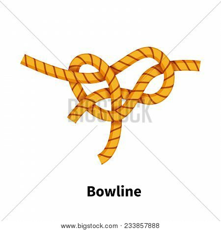 Bowline Knot Bright Colorful Howto