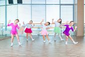 Children Dancing In Choreography Class. Happy Children Dancing On In Hall, Healthy Life, Kids Toget poster