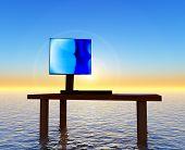 Desk Sunset