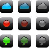 Ilustración de vector de conjunto de iconos de aplicaciones.