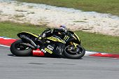 SEPANG, MALAYSIA - FEBRUARY 2: MotoGP rider Colin Edwards of Monster Yamaha Tech 3 Team practices at