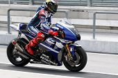 SEPANG, MALAYSIA - FEBRUARY 22: MotoGP rider Jorge Lorenzo of Yamaha Factory Racing Team practices a