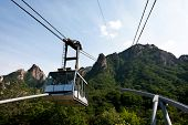 SEORAKSAN - JUNE 06: Cable car ride enables visitors to reach close to one of the peaks of the mountain range at the Seoraksan National Park on June 06, 2011 in Seoraksan, South Korea.