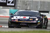 SEPANG - JUNE 17: Dilantha Malagamuwa (1) of Dilango Racing in a Lamborghini takes to the tracks of