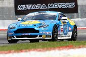 SEPANG - JUNE 17: Frank Yee of S&D Motorsports in a Aston Martin Vantage N24 takes to the tracks of