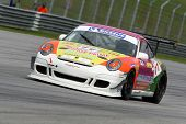 SEPANG - JUNE 17: Jacky Yeung of Hong Kong in a Porsche 997 Cup 3.6 takes to the tracks of the Sepan