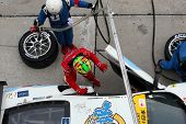 SEPANG, MALAYSIA - JUNE 19: LMP Motorsport's makes a driver change and tires change during pit-stop
