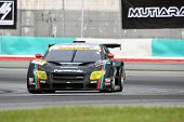 SEPANG, MALAYSIA - JUNE 18: The Toyota Corolla Axio car of 'apr' team puts in some practice laps in