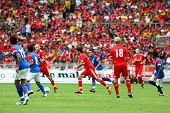 BUKIT JALIL - JULY 16 : Liverpool FC's captain Dirk Kuyt (18) leads his team's attack in this game a