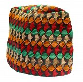 pic of nepali  - Close up of traditional Nepali Cap over white background - JPG