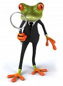 stock photo of glass frog  - Business frog - JPG