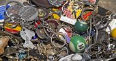 A Collection Of Old Key Chains