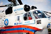 MOSCOW, RUSSIA, AUGUST,16: Russian Emergency Helicopter Rescue Service at the International Aviation