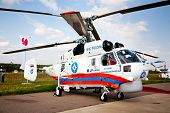 MOSCOW, RUSSIA, AUGUST 16: Russian Emergency Helicopter Rescue Service at the International Aviation