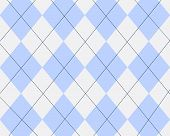 Blue And White Argyle Design