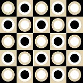 Black, Tan And White Circles And Squares Collage