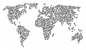 Global Concept Map Constructed Of Business Case Items. Vector Business Case Scatter Flat Icons Are C poster