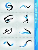 pic of eye brow ring  - Design elements set with abstract modern icons - JPG