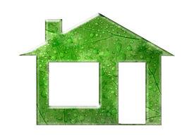image of environmentally friendly  - A conceptual rendering of an environmentally friendly house - JPG