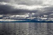 foto of chukotka  - Seascape in the gloomy morning  - JPG