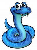 A Cute Cartoon Snake Cartoon Character Mascot poster