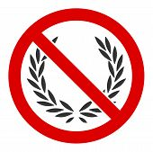 No Glory Raster Icon. Flat No Glory Symbol Is Isolated On A White Background. poster
