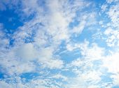 Sky With Clouds,blue Skies, White Clouds ,the Vast Blue Sky And Clouds poster