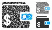 Dollar Wallet Mosaic Of Humpy Pieces In Variable Sizes And Color Tints, Based On Dollar Wallet Icon. poster