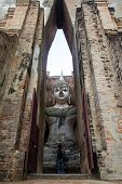 Sri Chum Temple Is An Ancient Monument In The Sukhothai Historical Park. This Temple Is Enshrined By poster