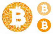 Bitcoin Coin Composition Of Trembly Items In Various Sizes And Color Tints, Based On Bitcoin Coin Ic poster