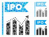 Ipo Chart Composition Of Humpy Pieces In Various Sizes And Color Tones, Based On Ipo Chart Icon. Vec poster