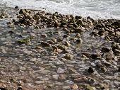 Stones in the sea on the coast of the central Dalmatia