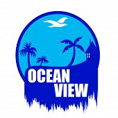 Ocean view art illustration