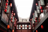 edificios tradicionales en Jinli, Sichuan, China