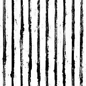 Black And White Stripe Grunge Seamless Pattern. Black Stripes On White Background. Hand Drawn Stripe poster